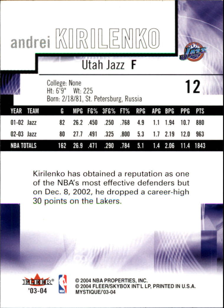 2003-04-Fleer-Mystique-Basketball-Card-Pick thumbnail 25