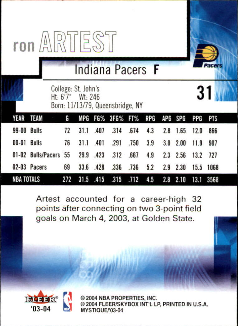 2003-04-Fleer-Mystique-Basketball-Card-Pick thumbnail 61