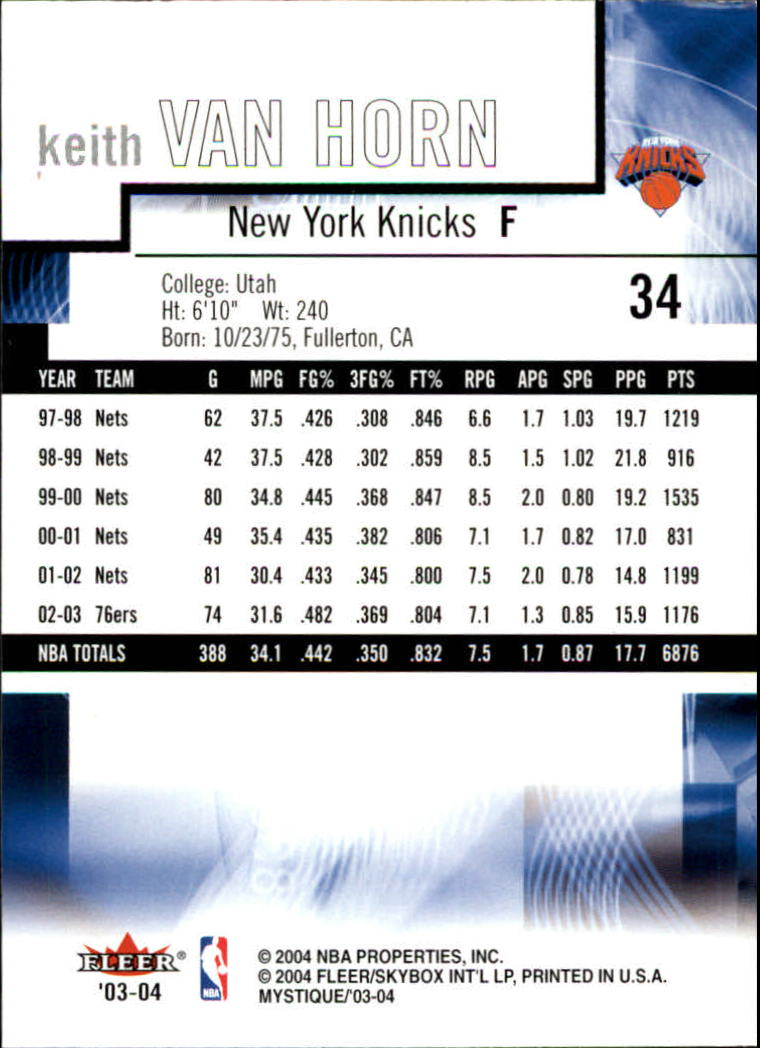 2003-04-Fleer-Mystique-Basketball-Card-Pick thumbnail 67