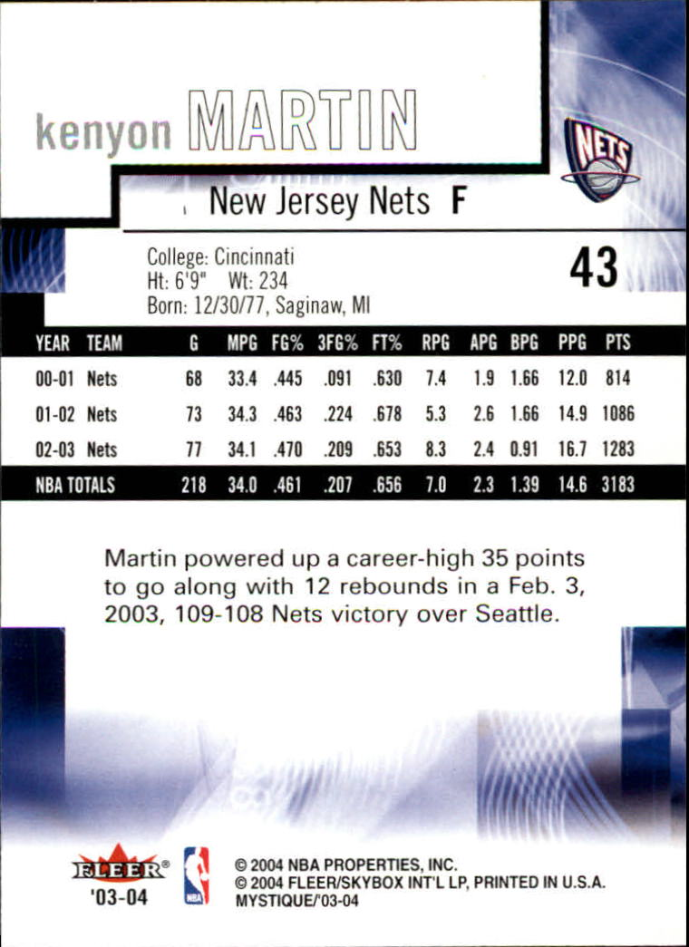2003-04-Fleer-Mystique-Basketball-Card-Pick thumbnail 83