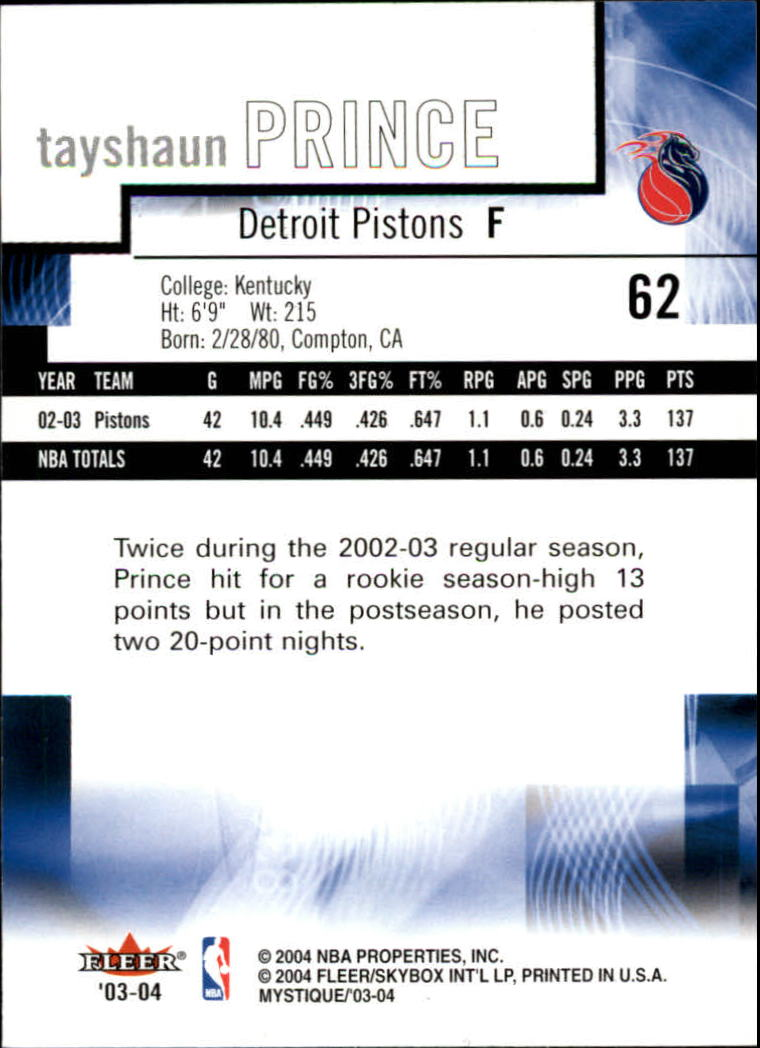 2003-04-Fleer-Mystique-Basketball-Card-Pick thumbnail 121