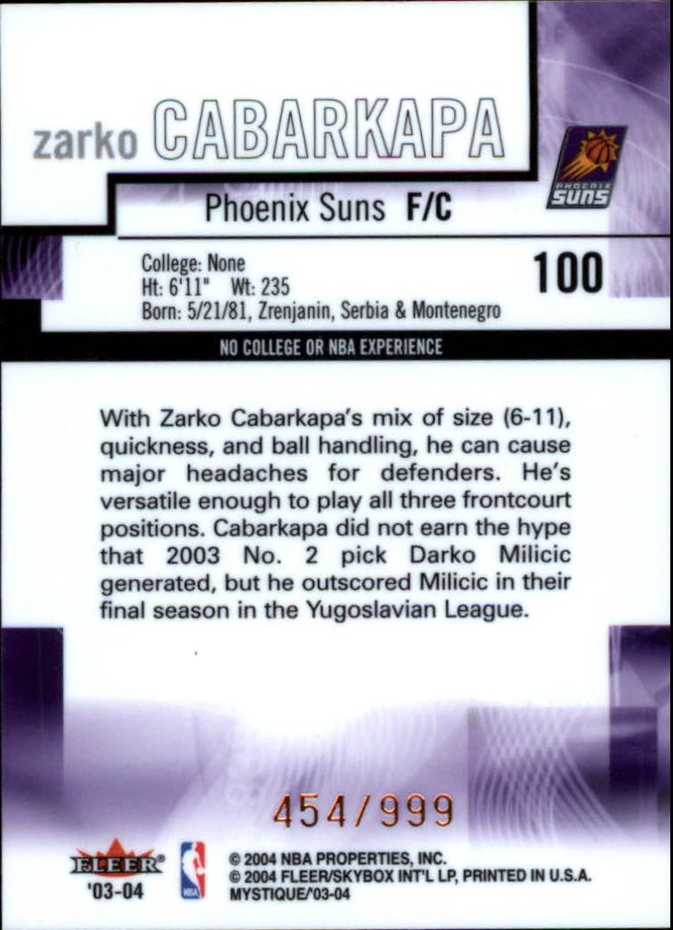 2003-04-Fleer-Mystique-Basketball-Card-Pick thumbnail 171
