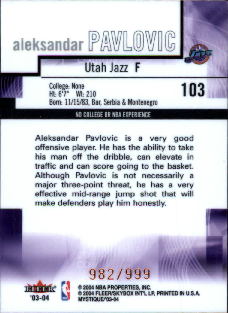 2003-04-Fleer-Mystique-Basketball-Card-Pick thumbnail 175