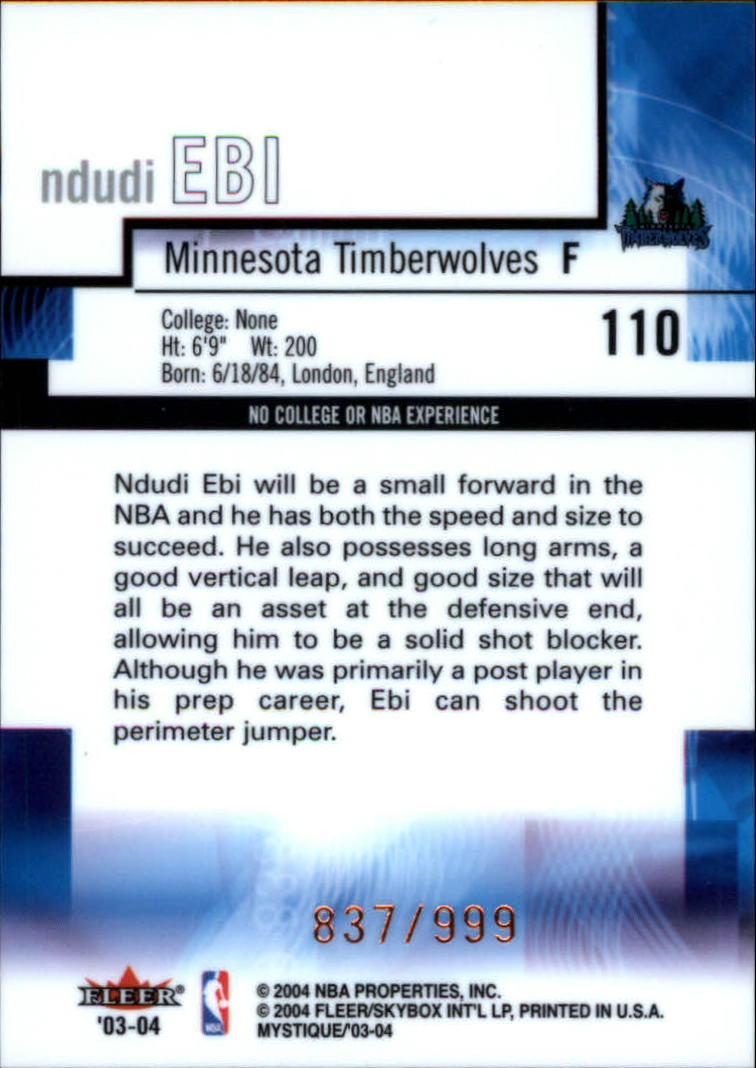 2003-04-Fleer-Mystique-Basketball-Card-Pick thumbnail 179