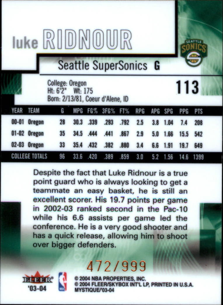 2003-04-Fleer-Mystique-Basketball-Card-Pick thumbnail 181