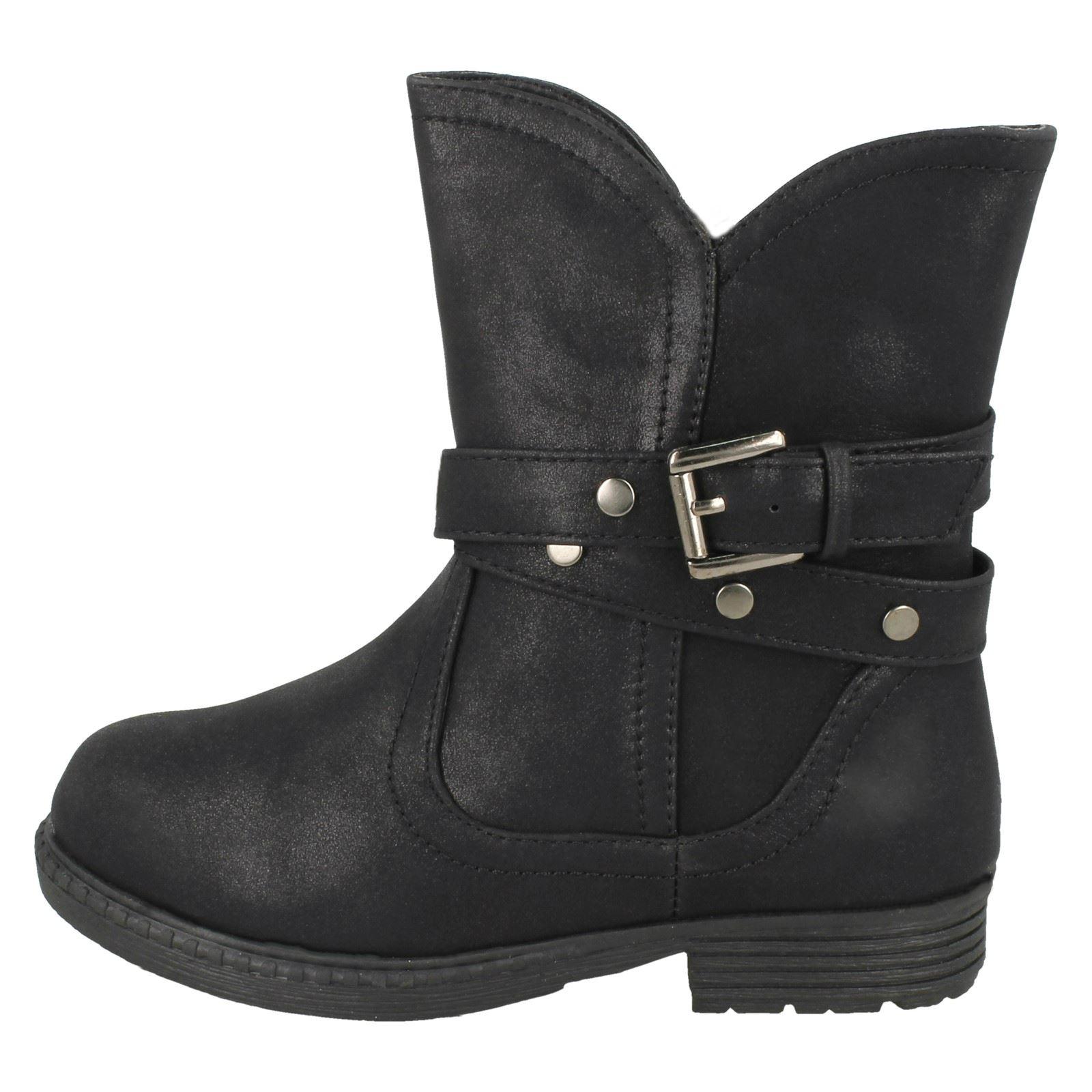 filles-Spot-On-Boots-chevilles-avec-boucle-Design