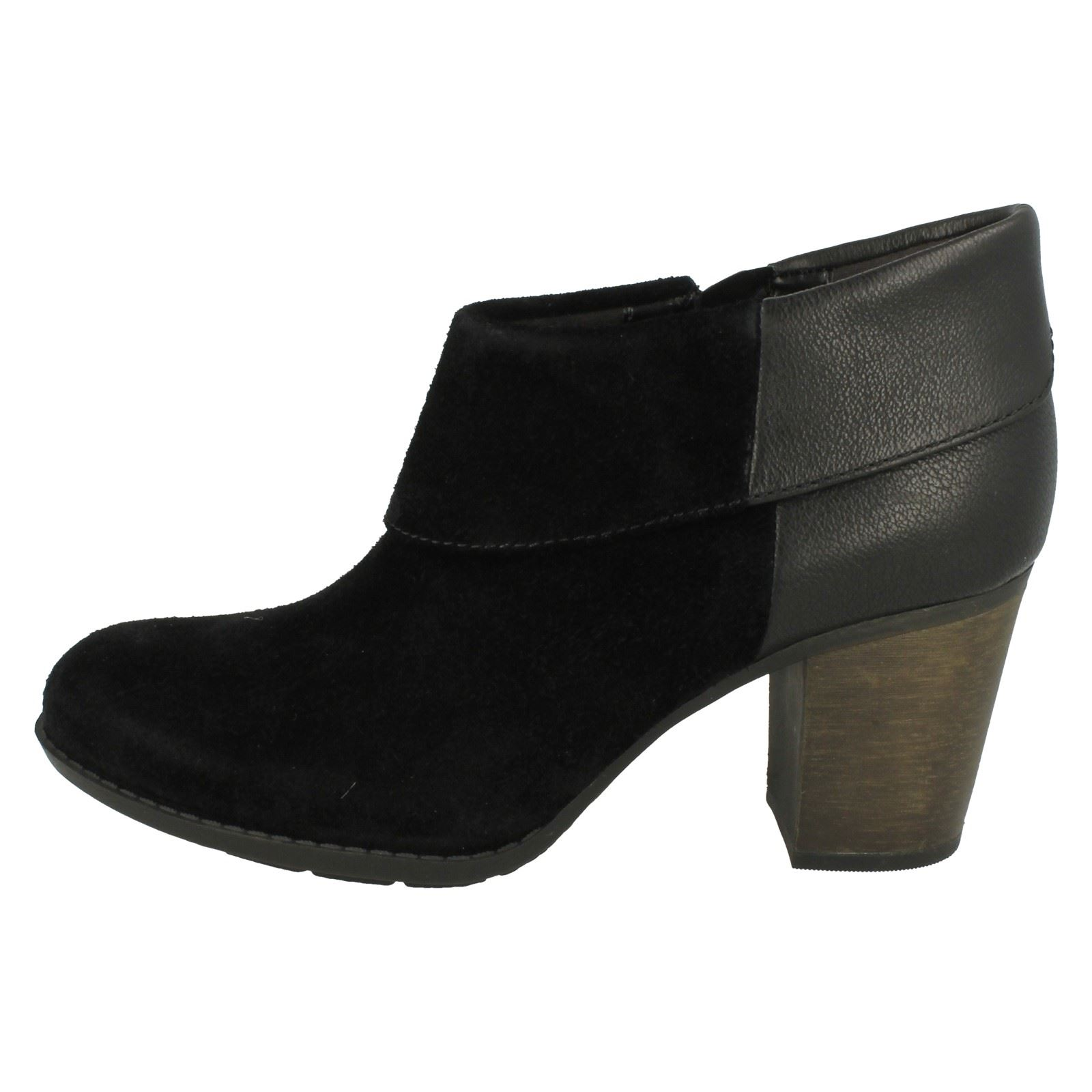 Details about  /Ladies Clarks Smart Ankle Boots Enfield Canal