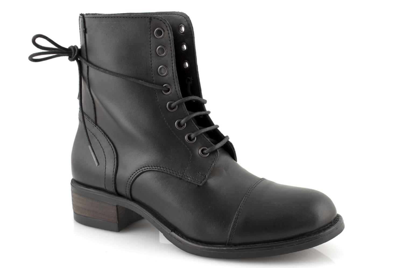 Militär Leder Schuhe Stiefel Frau In Militärschuhe Italy Winter Schwarze Made DIEH2WY9