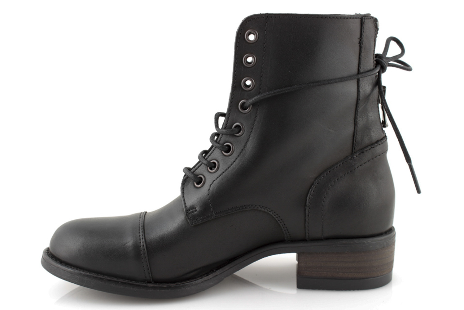 Chaussures Militaire Bottes Hiver Italy Noir In Made Femme Rangers Cuir qXwEtn