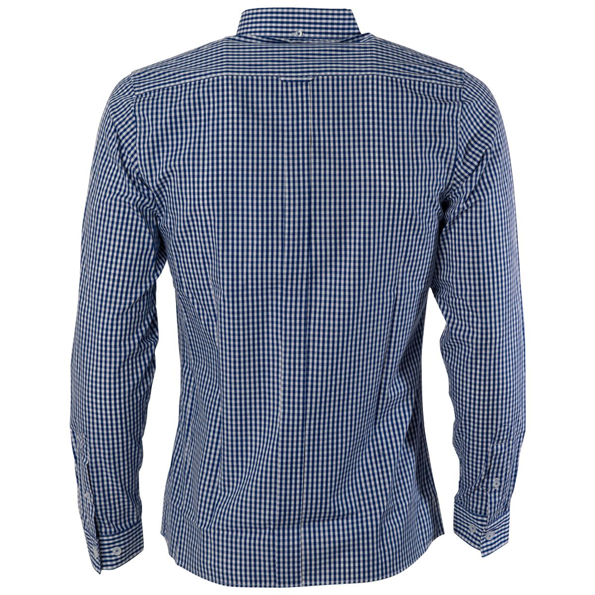 Gabicci-Vintage-Mens-Tailored-Top-Cotton-Gingham-Print-Woven-Shirt-Size-S-2XL