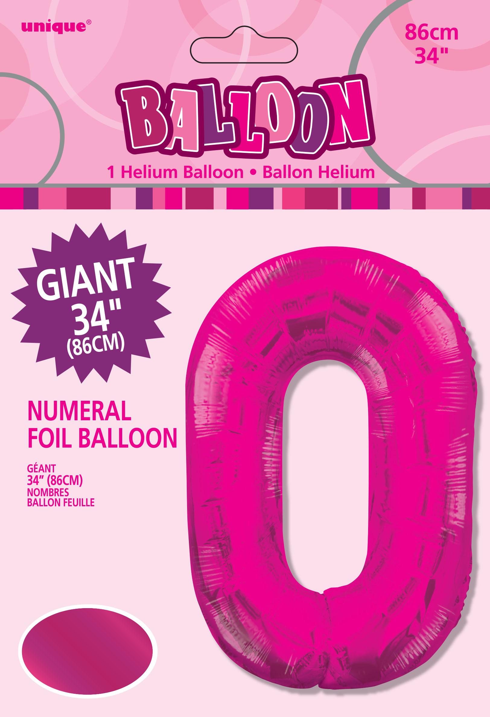 86-4cm-Geant-Aluminium-Numero-Rose-Helium-Gros-Ballons-Fete-D-039-Anniversaire miniature 2