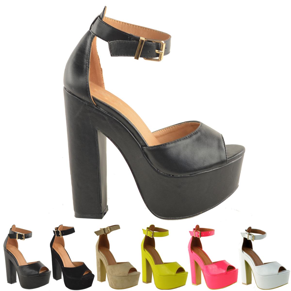 Scarpe Tacco Grosso Ebay