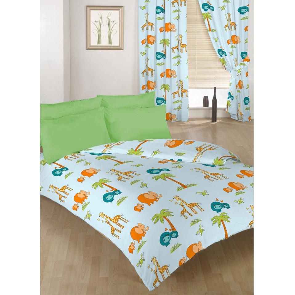 einzel doppel gr e bettbezug set vorh nge bettw sche polybaumwolle kinder ebay. Black Bedroom Furniture Sets. Home Design Ideas