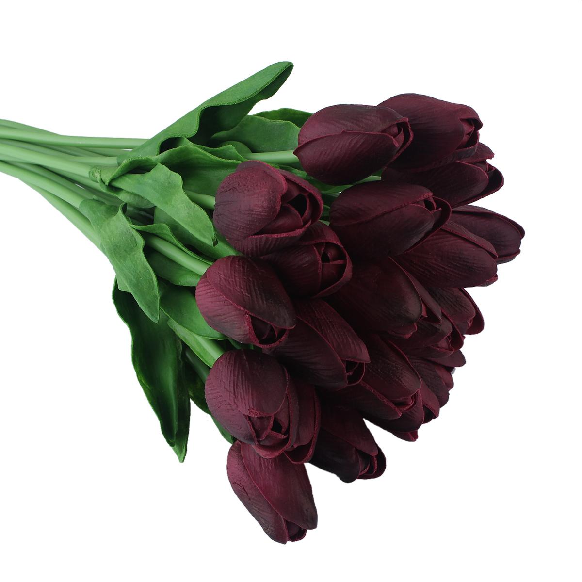 1stk tulpe k nstliche blumen latex echt ber hrung hochzeit hochzeitsstrau ebay. Black Bedroom Furniture Sets. Home Design Ideas