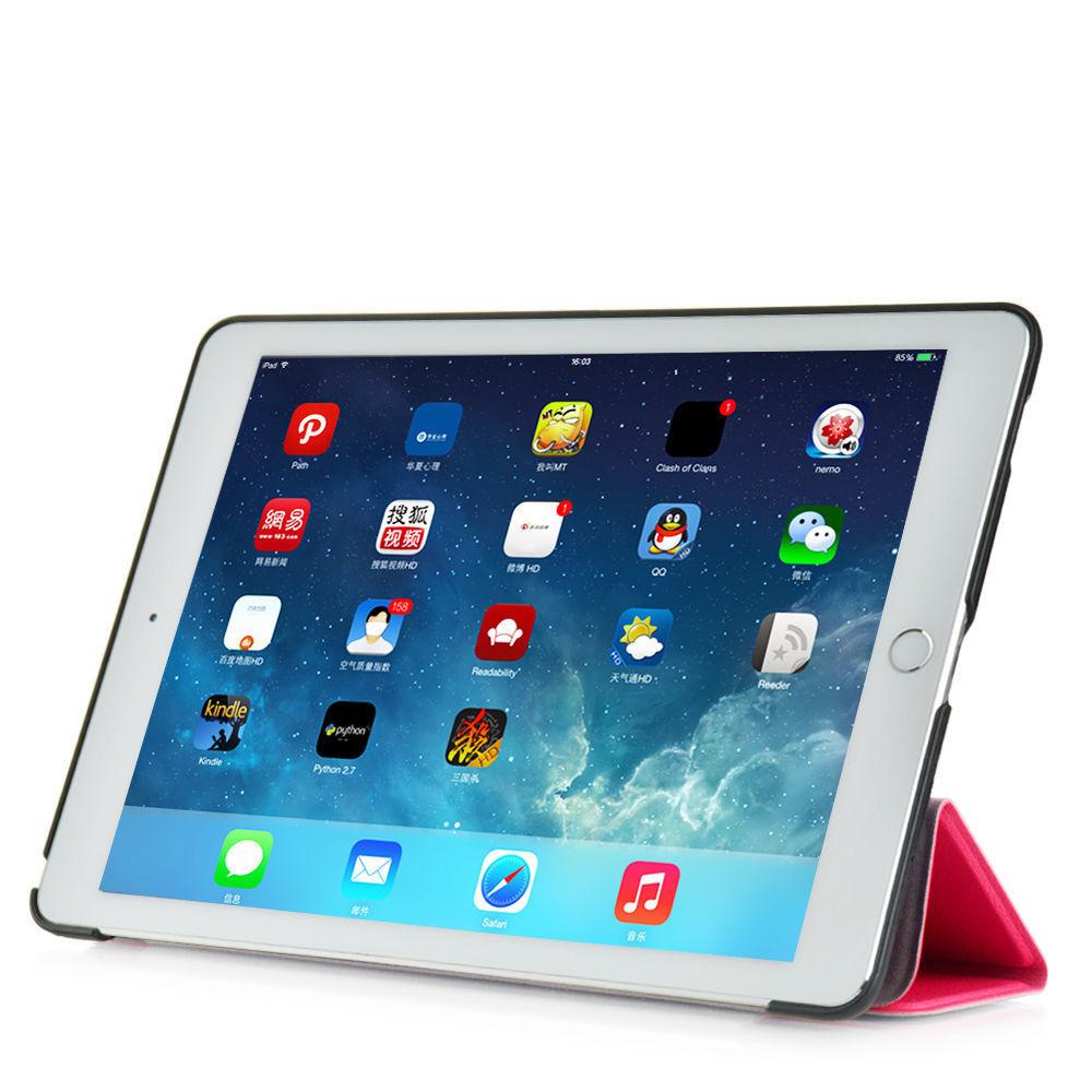 Custodia-Per-Apple-IPAD-Air-2-9-7-Smart-Cover-a-Libro-Protettiva-Conchiglia miniatura 20