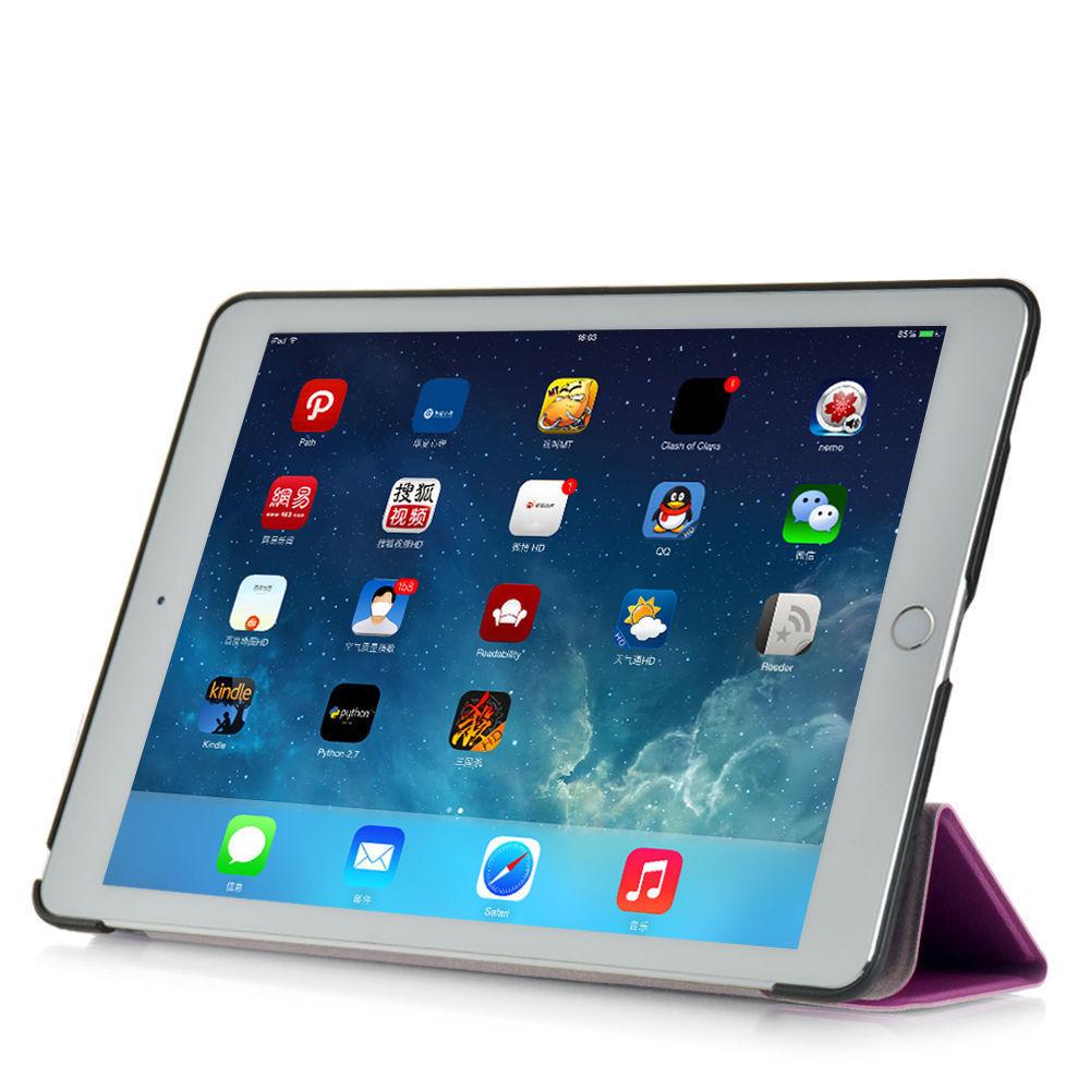 Custodia-Per-Apple-IPAD-Air-2-9-7-Smart-Cover-a-Libro-Protettiva-Conchiglia miniatura 50