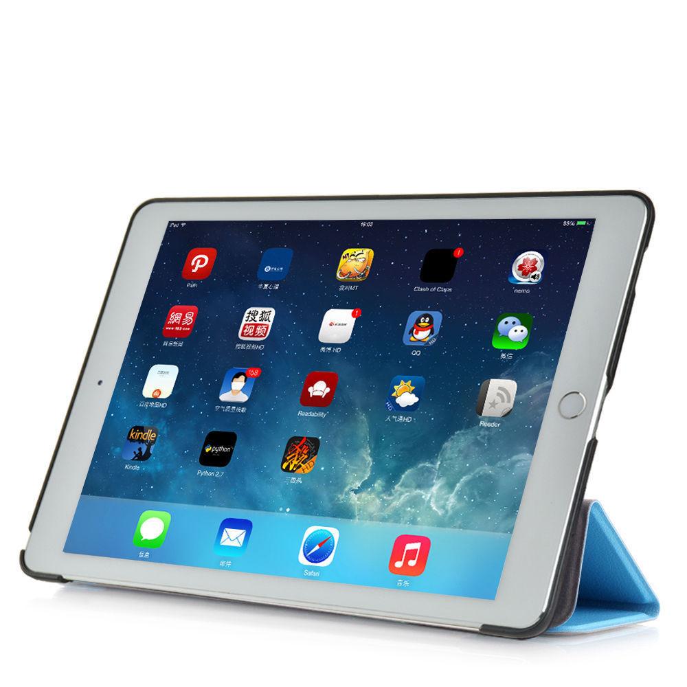 Custodia-Per-Apple-IPAD-Air-2-9-7-Smart-Cover-a-Libro-Protettiva-Conchiglia miniatura 26