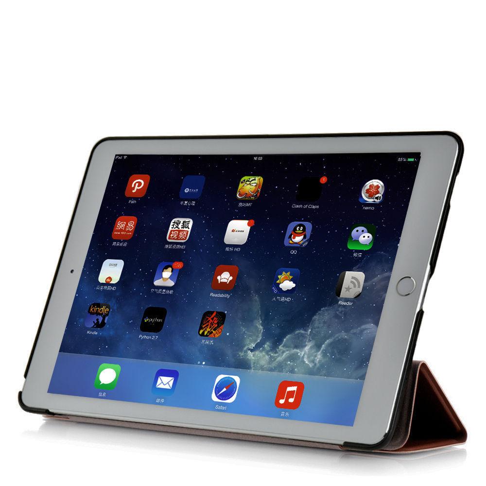 Custodia-Per-Apple-IPAD-Air-2-9-7-Smart-Cover-a-Libro-Protettiva-Conchiglia miniatura 62