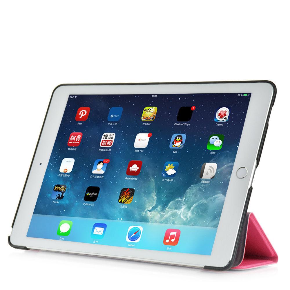 Custodia-Per-Apple-IPAD-Air-2-9-7-Smart-Cover-a-Libro-Protettiva-Conchiglia miniatura 56