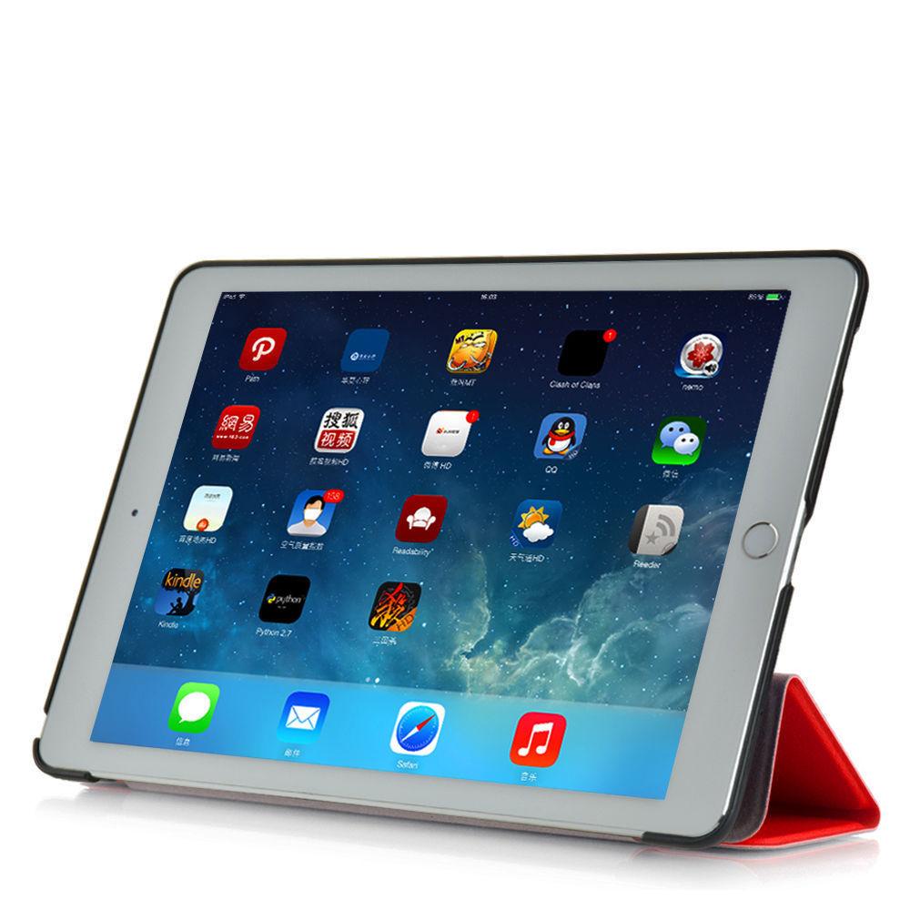 Custodia-Per-Apple-IPAD-Air-2-9-7-Smart-Cover-a-Libro-Protettiva-Conchiglia miniatura 38