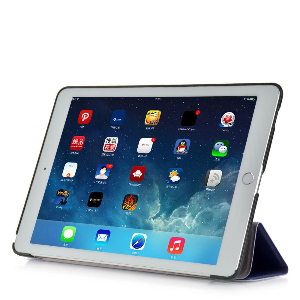 Custodia-Per-Apple-IPAD-Air-2-9-7-Smart-Cover-a-Libro-Protettiva-Conchiglia miniatura 44