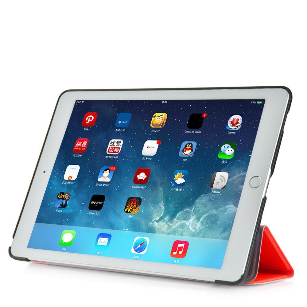 Custodia-Per-Apple-IPAD-Air-2-9-7-Smart-Cover-a-Libro-Protettiva-Conchiglia miniatura 68