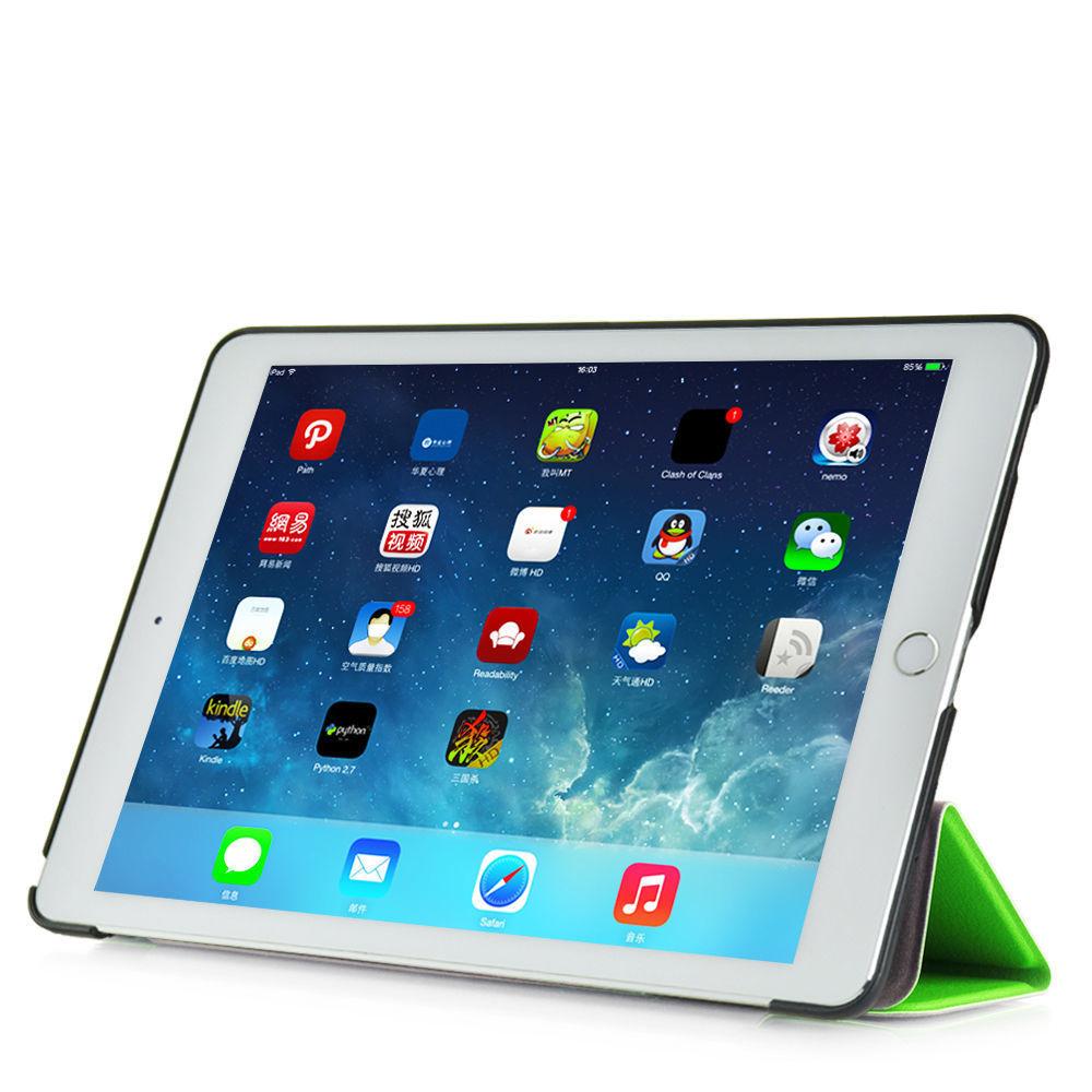 Custodia-Per-Apple-IPAD-Air-2-9-7-Smart-Cover-a-Libro-Protettiva-Conchiglia miniatura 32