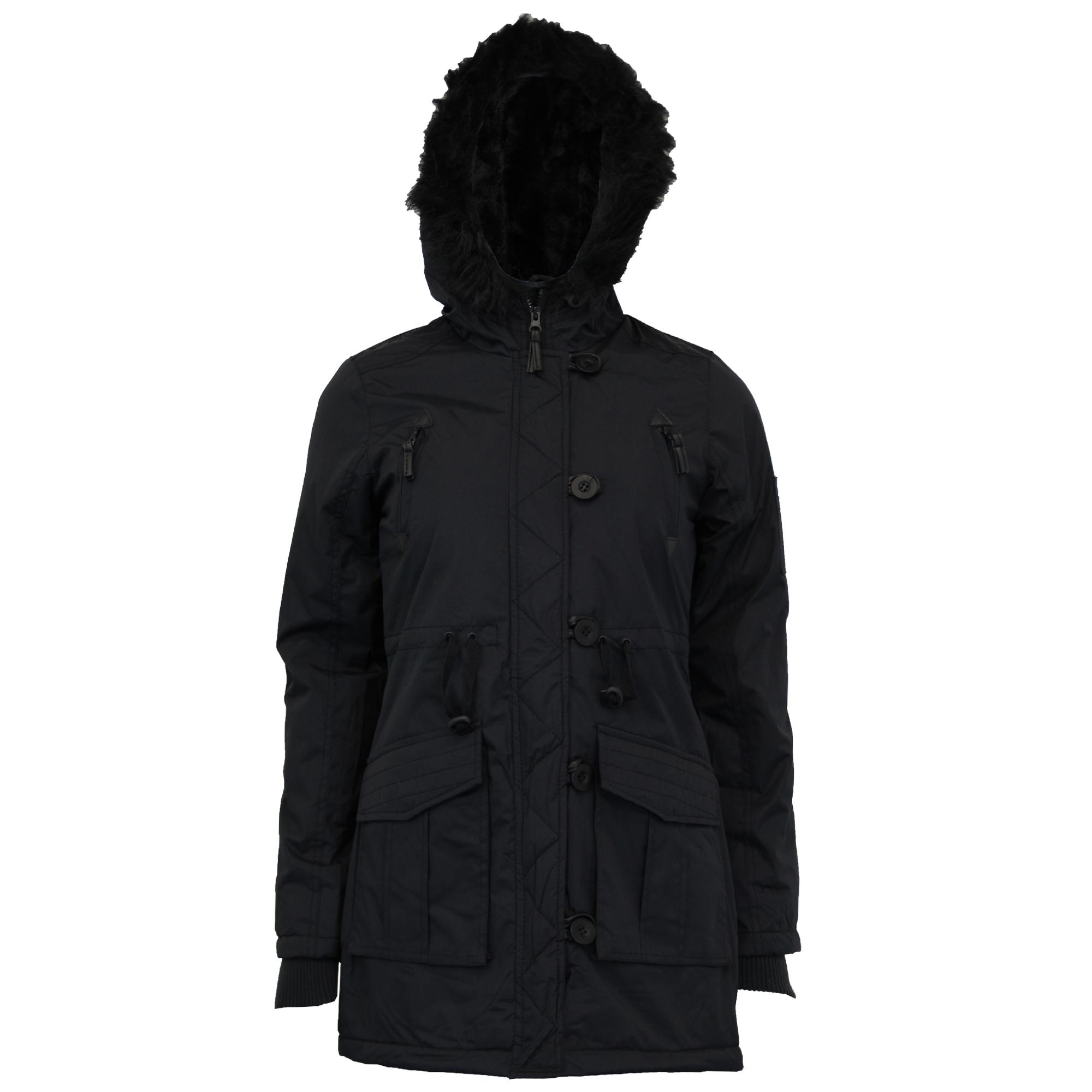 Parka Rembourrᄄᆭe Manteau Femme Avec Brave En Fourrure Capuche Militaire Soul lK1JcTF