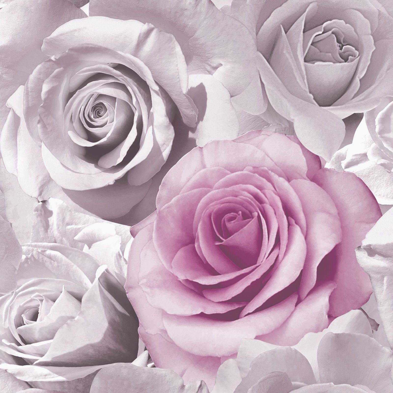 Floral Flowers Wallpaper Metallic Glitter Roses Ginkgo Blooms