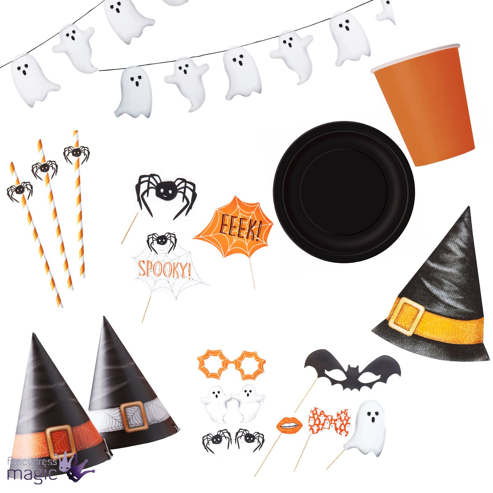 Ginger ray halloween spooky spinne kinder party set for Kinder party set