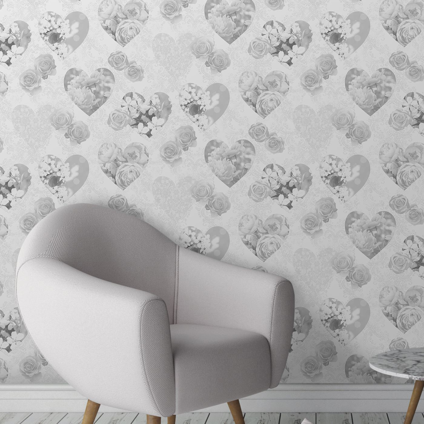 Details about HEART THEMED WALLPAPER GIRLS BEDROOM PINK VARIOUS DESIGNS  AVAILABLE NEW