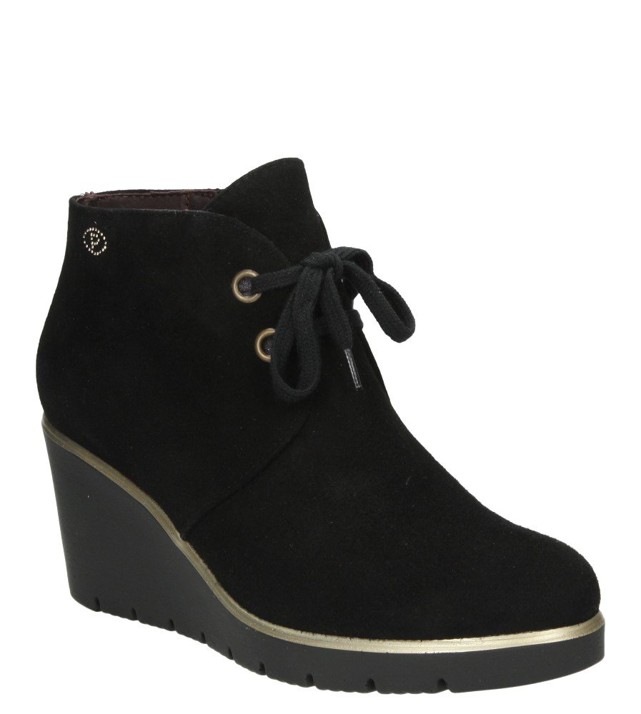 Pitillos Pitillos Pitillos Women's Shoes Ankle Boots Autumn/Spring Leather Black Elegant Size 161a25