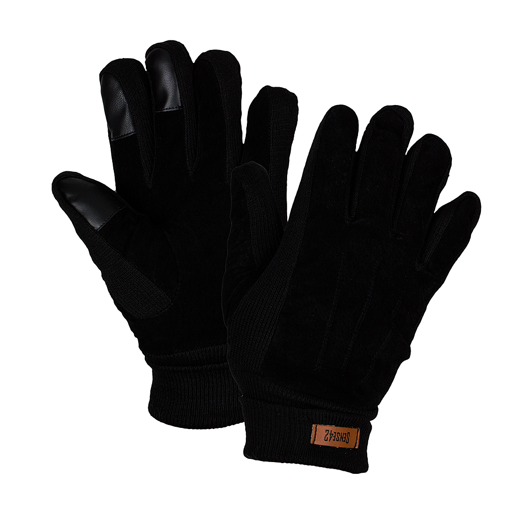 Sense42-Winter-gloves-Touchscreen-Decorative-stitching-Knitted-Faux-suede-M-L-amp