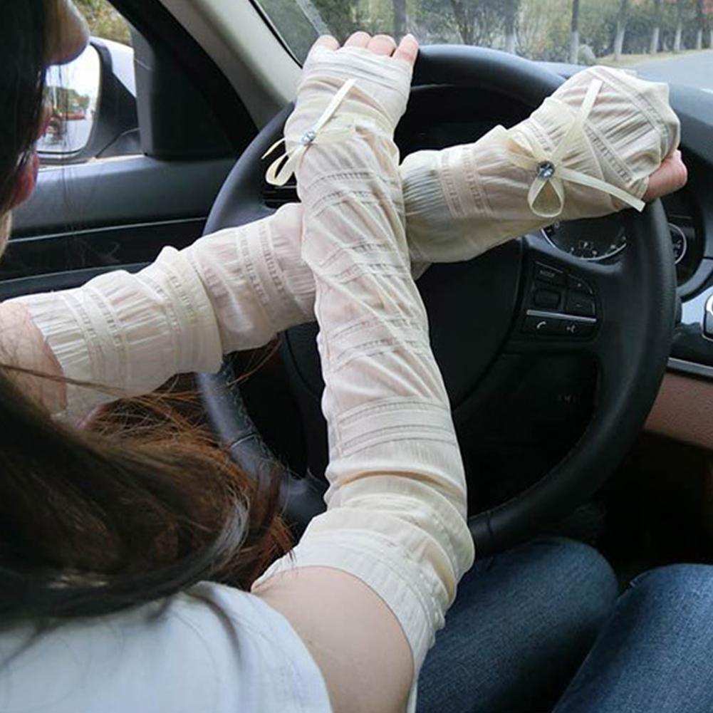 1-COPPIA-DONNA-ESTATE-Protezione-dal-sole-senza-dita-lungo-braccio-Guanti