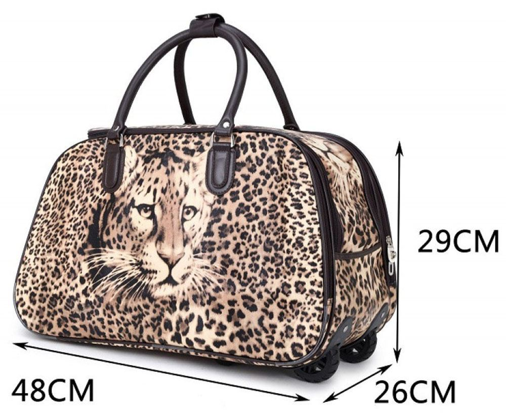 unisex reisetasche teddy leoparden druck gep ck tasche. Black Bedroom Furniture Sets. Home Design Ideas