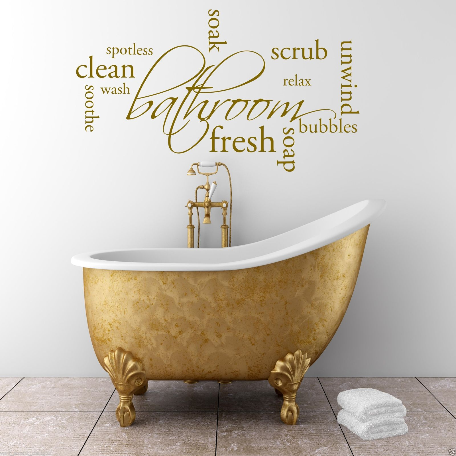 Relax soap bathroom wall art sticker quote decal mural for Relax bathroom wall decor