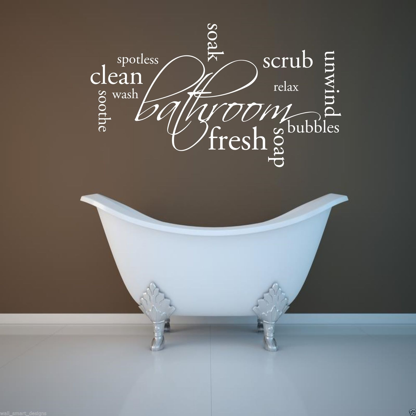 Ebay Wall Stickers Quotes Relax Soap Bathroom Wall Sticker Quote Decal Mural Stencil