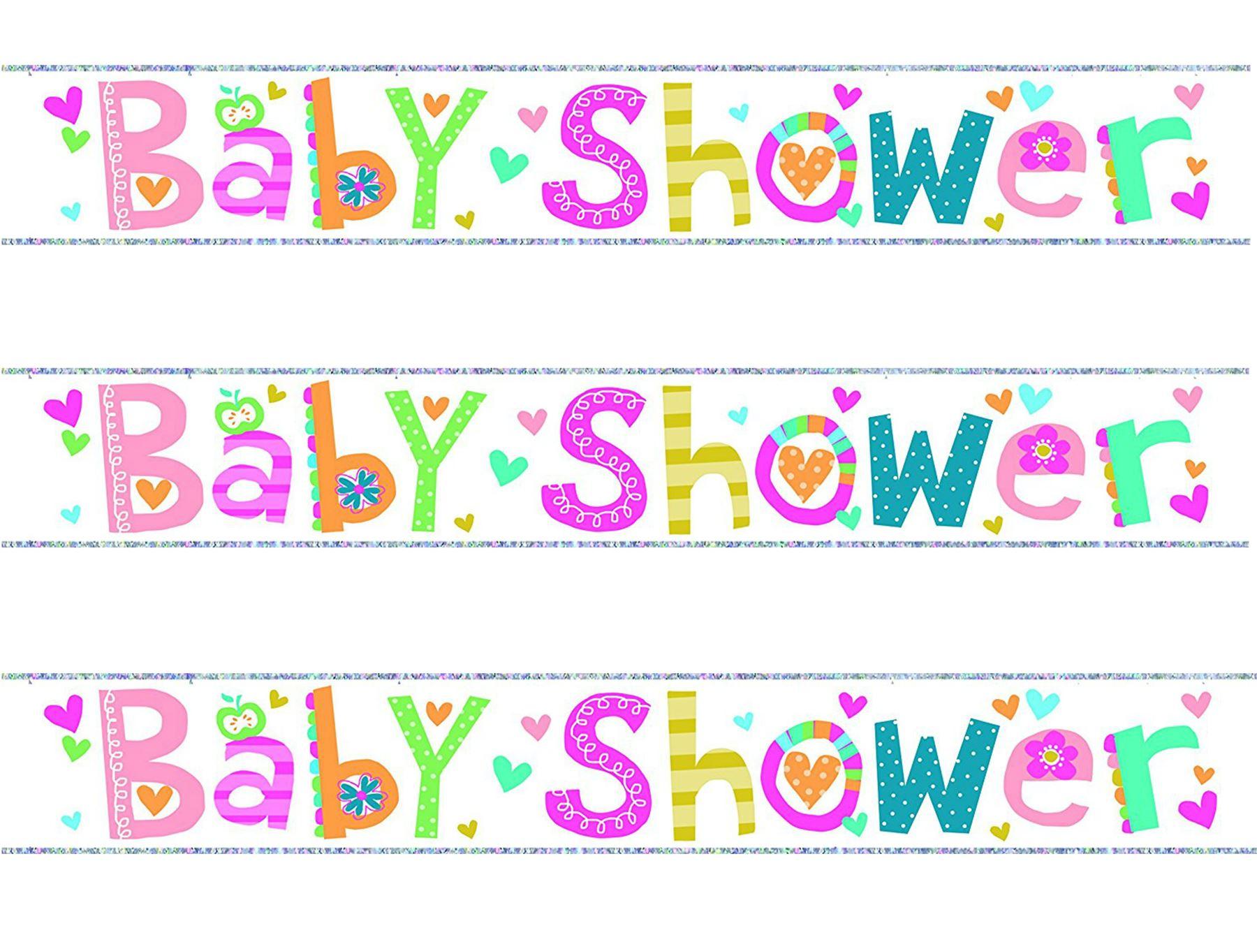 Rosa-Baby-Shower-Pancarta-nina-Decoracion-Fiesta-metalizado-articulado-Guirnalda