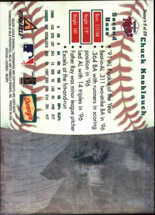 thumbnail 19 - 1997 Denny's Holograms Baseball Cards 1-30 (A2393) - You Pick - 10+ FREE SHIP