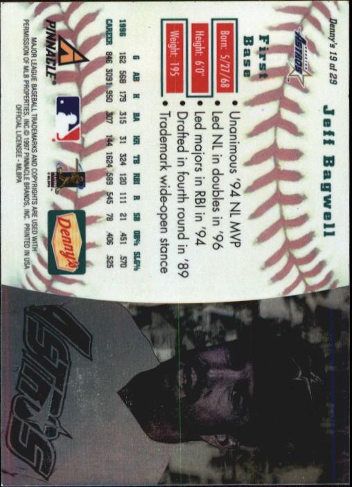 thumbnail 35 - 1997 Denny's Holograms Baseball Cards 1-30 (A2393) - You Pick - 10+ FREE SHIP