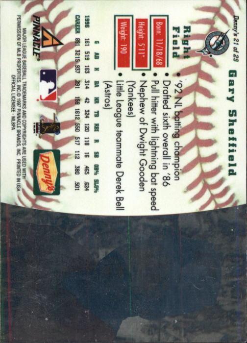 thumbnail 39 - 1997 Denny's Holograms Baseball Cards 1-30 (A2393) - You Pick - 10+ FREE SHIP