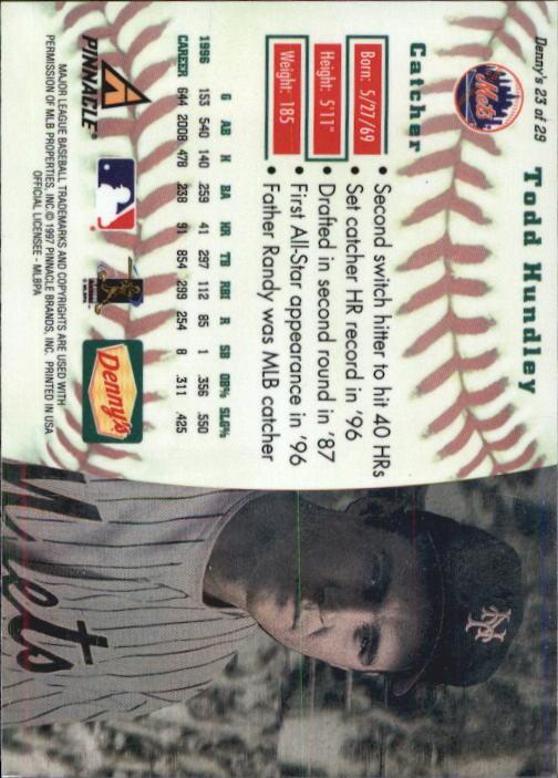 thumbnail 43 - 1997 Denny's Holograms Baseball Cards 1-30 (A2393) - You Pick - 10+ FREE SHIP