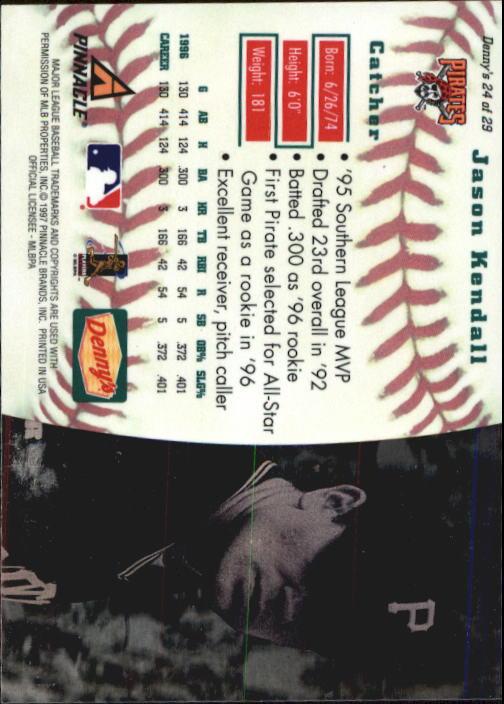 thumbnail 45 - 1997 Denny's Holograms Baseball Cards 1-30 (A2393) - You Pick - 10+ FREE SHIP