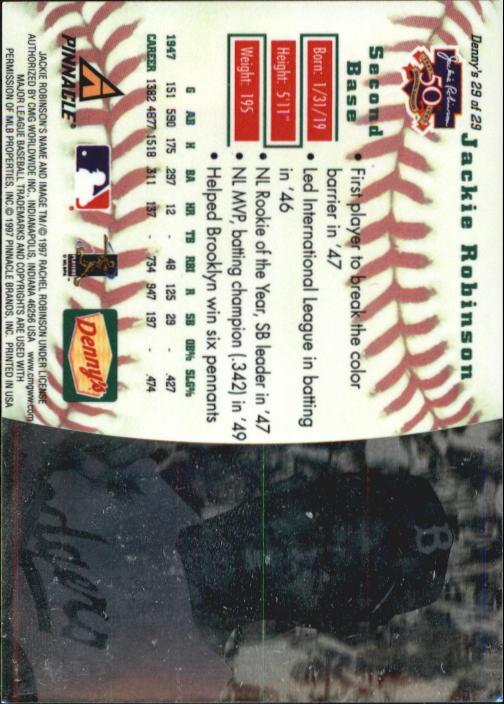 thumbnail 55 - 1997 Denny's Holograms Baseball Cards 1-30 (A2393) - You Pick - 10+ FREE SHIP