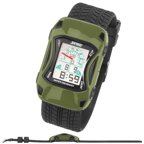 SILICONE-BAMBINI-Orologio-da-polso-AUTO-digitale-Quarzo-Sveglia-cronometro