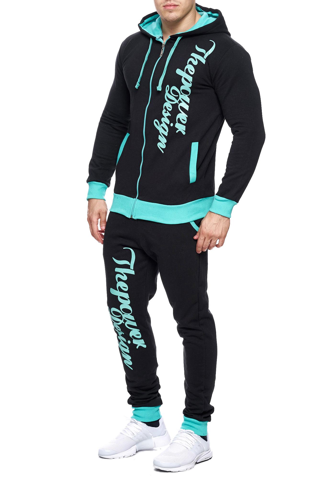 Jogging-Suit-Sports-Suit-Fitness-Power-Men-039-s-Code47 thumbnail 10
