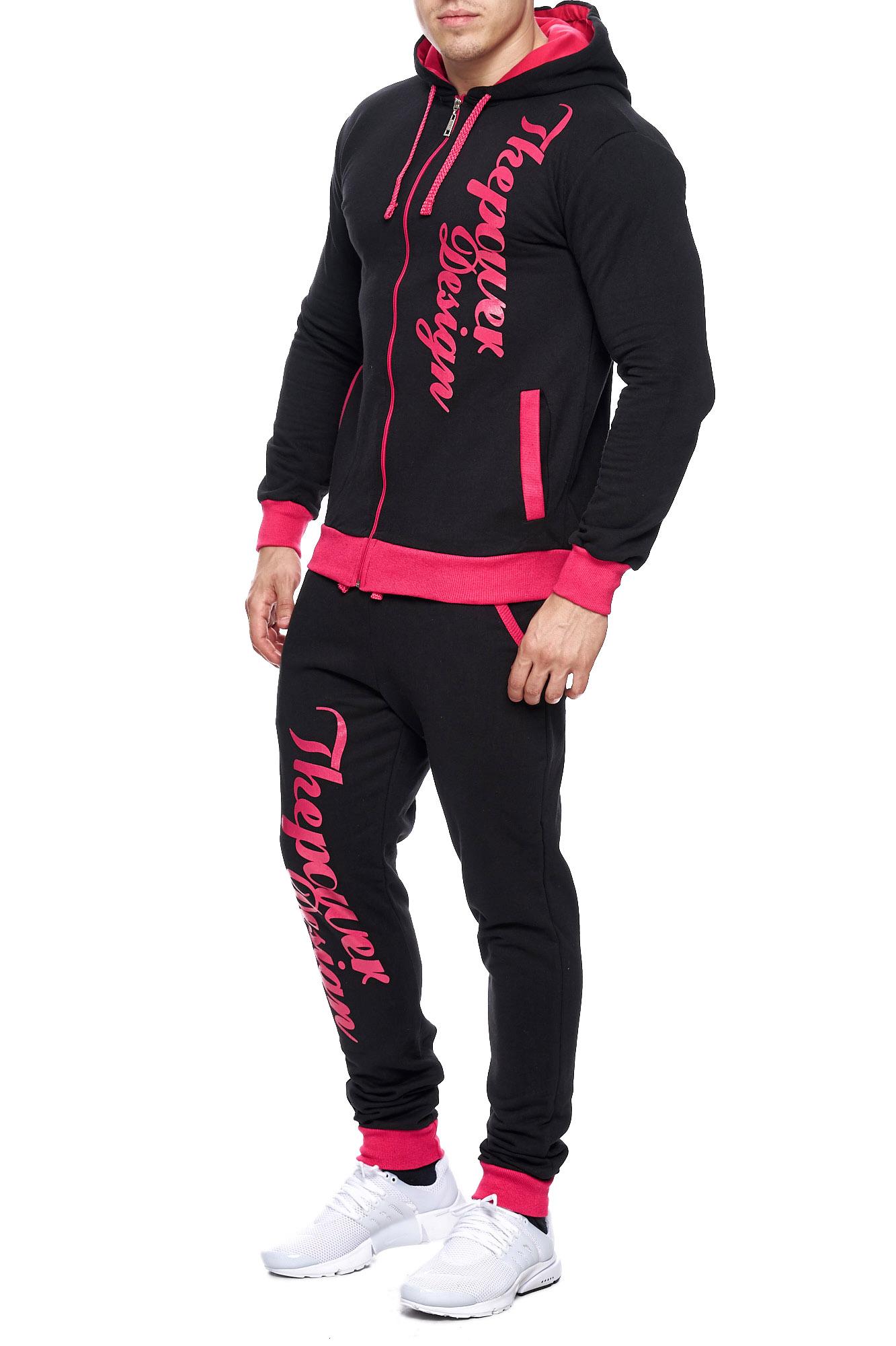 Jogging-Suit-Sports-Suit-Fitness-Power-Men-039-s-Code47 thumbnail 17