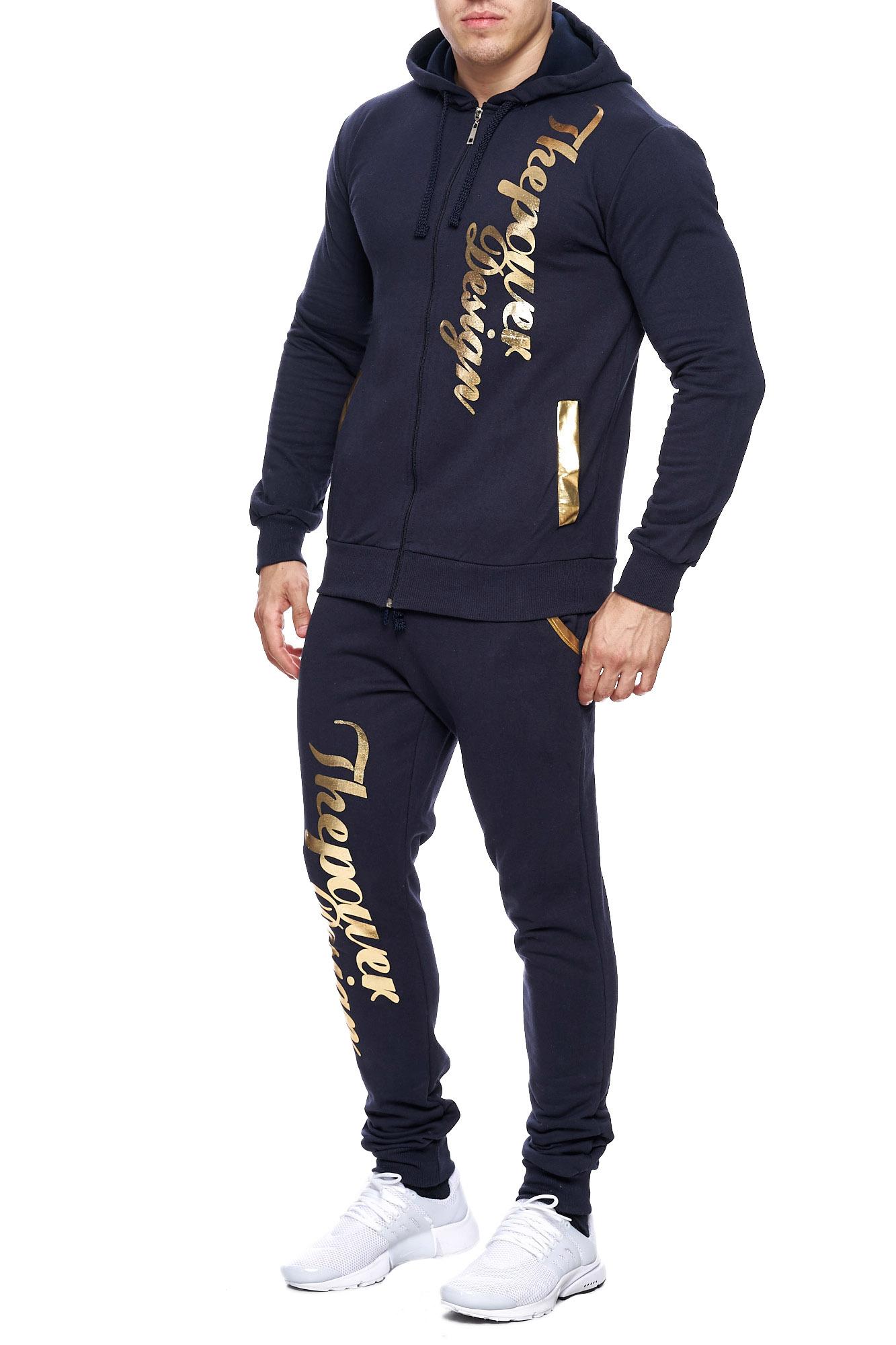Jogging-Suit-Sports-Suit-Fitness-Power-Men-039-s-Code47 thumbnail 12