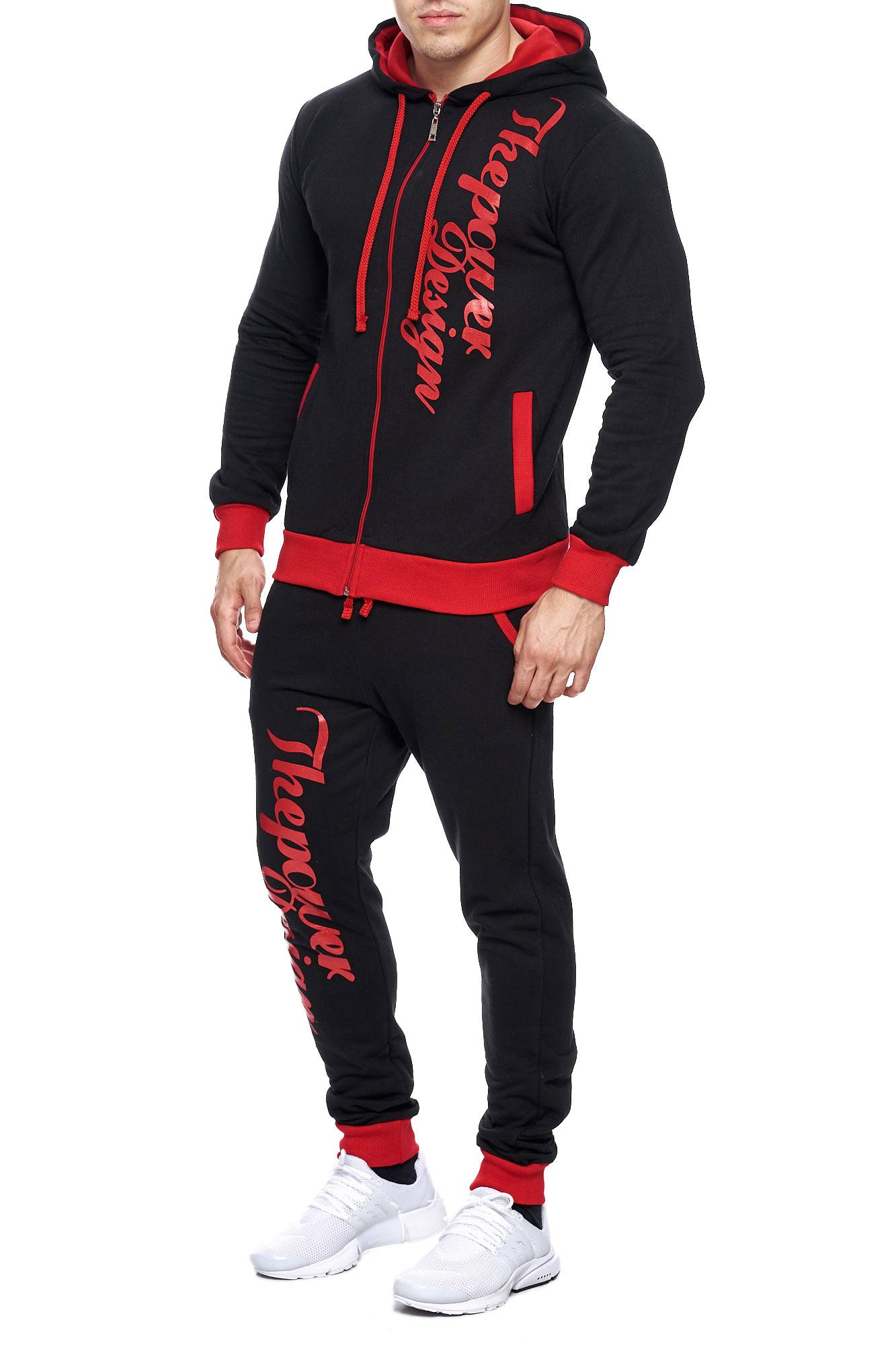 Jogging-Suit-Sports-Suit-Fitness-Power-Men-039-s-Code47 thumbnail 15