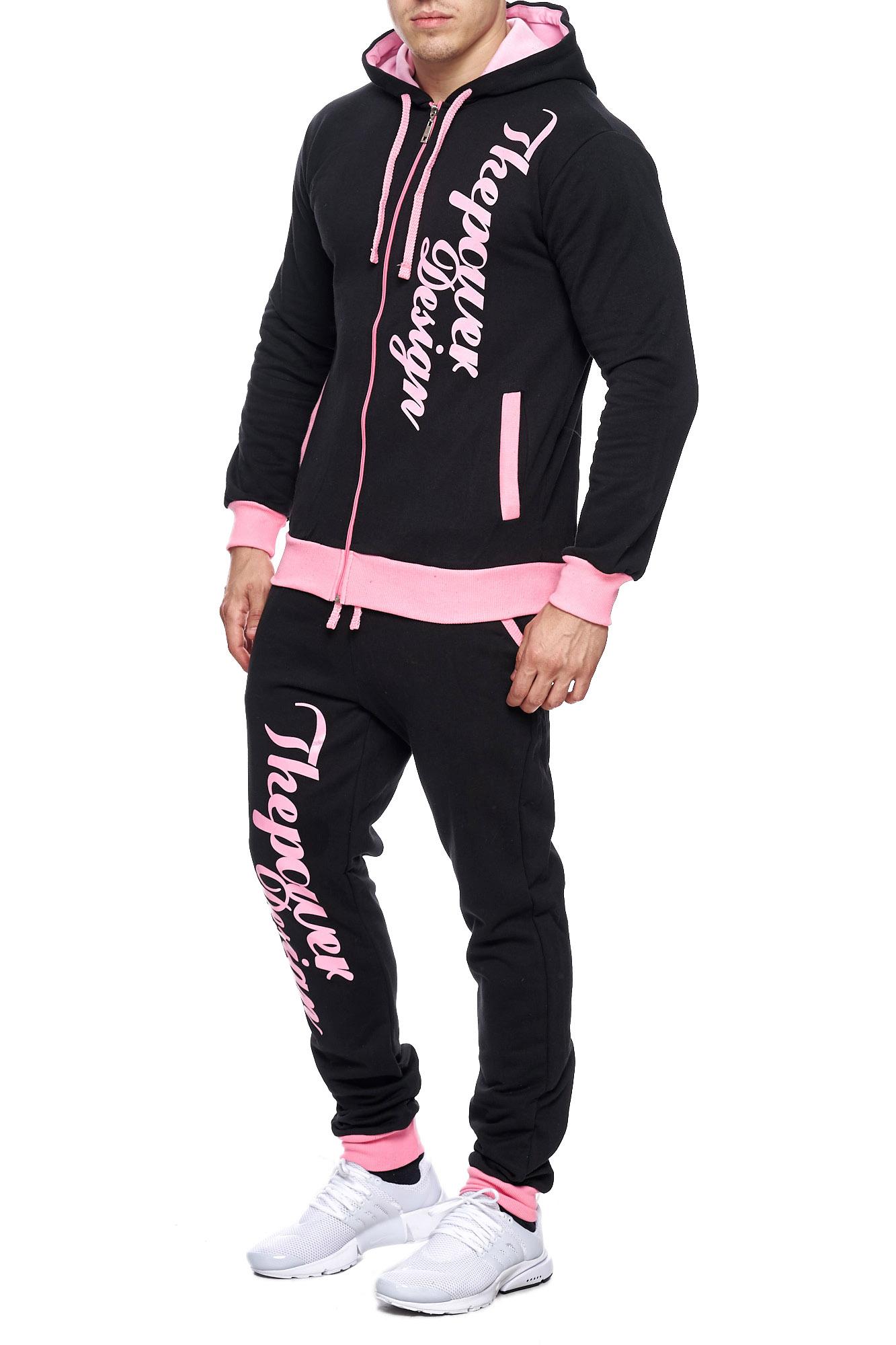 Jogging-Suit-Sports-Suit-Fitness-Power-Men-039-s-Code47 thumbnail 5